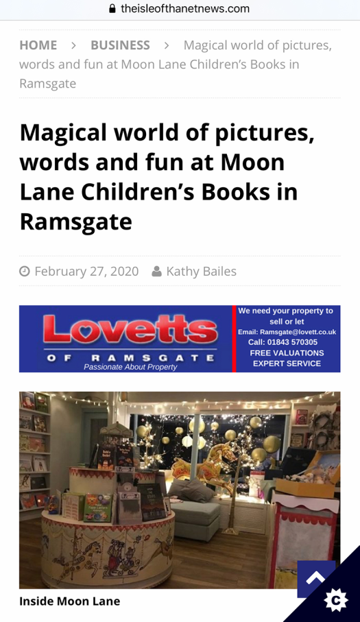 Isle of Thanet News reports about Moon Lane Ramsgate