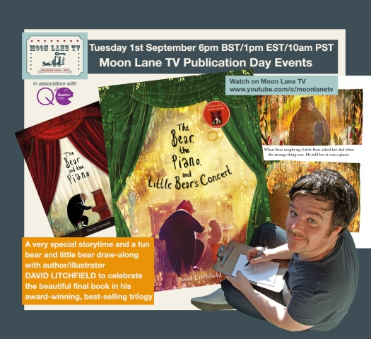 David Litchfield and the 3rd and final book in his 'Bear and the Piano' series