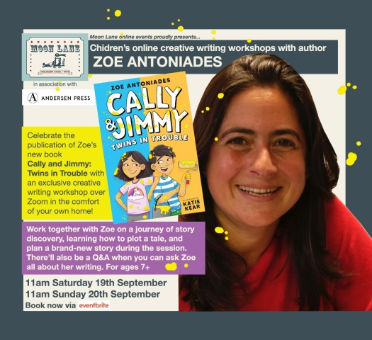Online children's writing workshops with author Zoe Antoniades